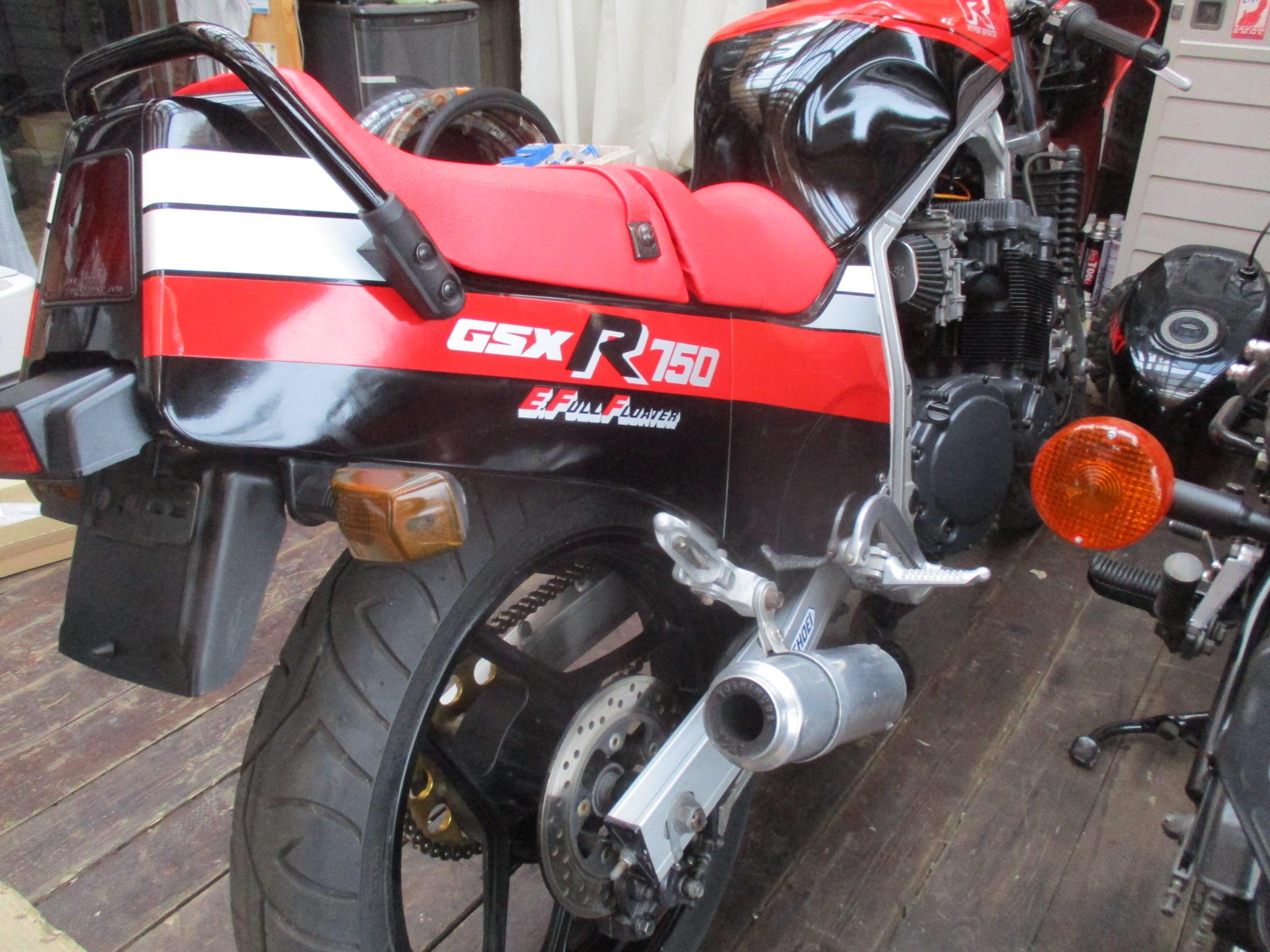 GSX-R750 GR71F 整備中!